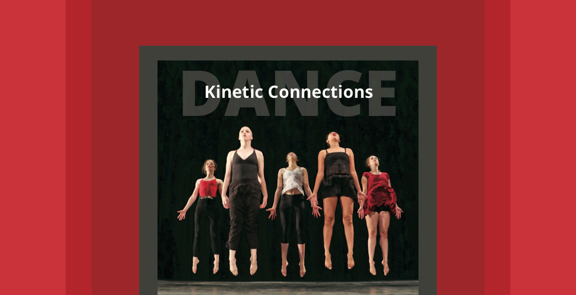 Image of Maricopa Community Colleges dance students with the words Kinetic Connections on the image