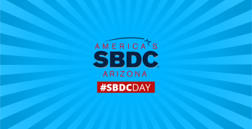 Graphic of America's Small Business Development Center Network and social #SBDCDAY